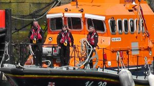 Troon Lifeboat at Harbour Blessing
