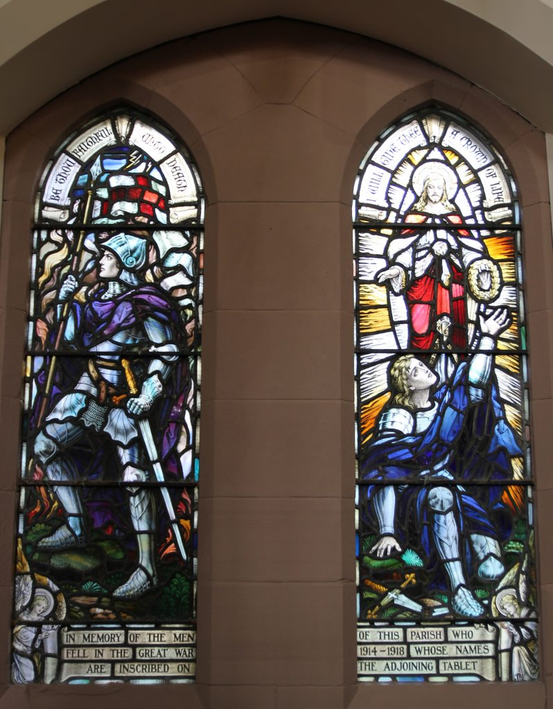 World War 1 Windows in Troon Old