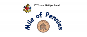 1st Troon BB Pipe Band Mile of Pennies