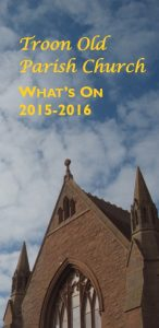 front cover of Troon Old Parish Church What's On guide