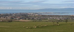 Troon in early Spring, seen from Dundonald Hill