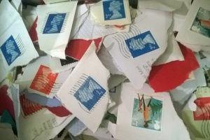 recycled stamps