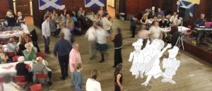 Troon Old Ceilidh with the 2016 cartoon dancers