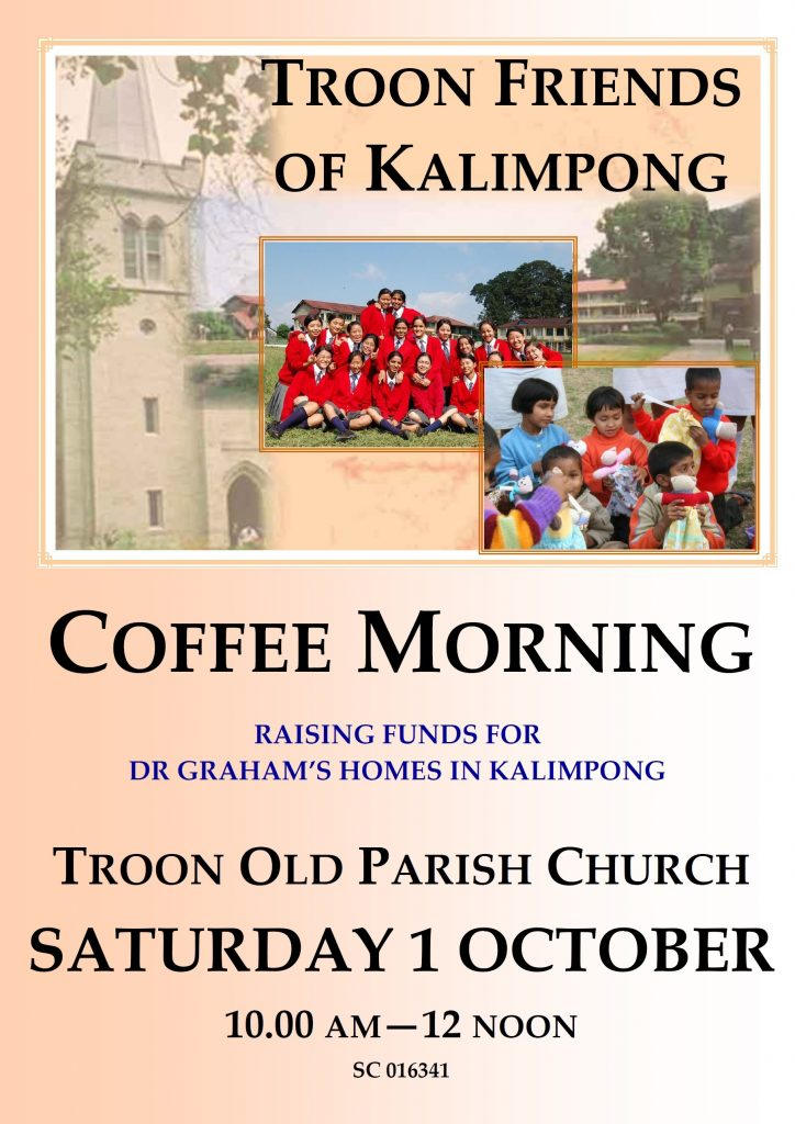 Troon Friends of Kalimpong Coffee Morning, Saturday 1 October 2016