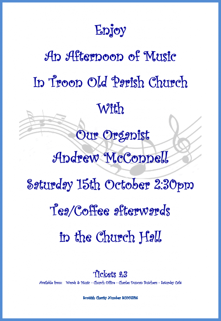 Musical Afternoon with Andrew McConnell, 15 October 2016 poster