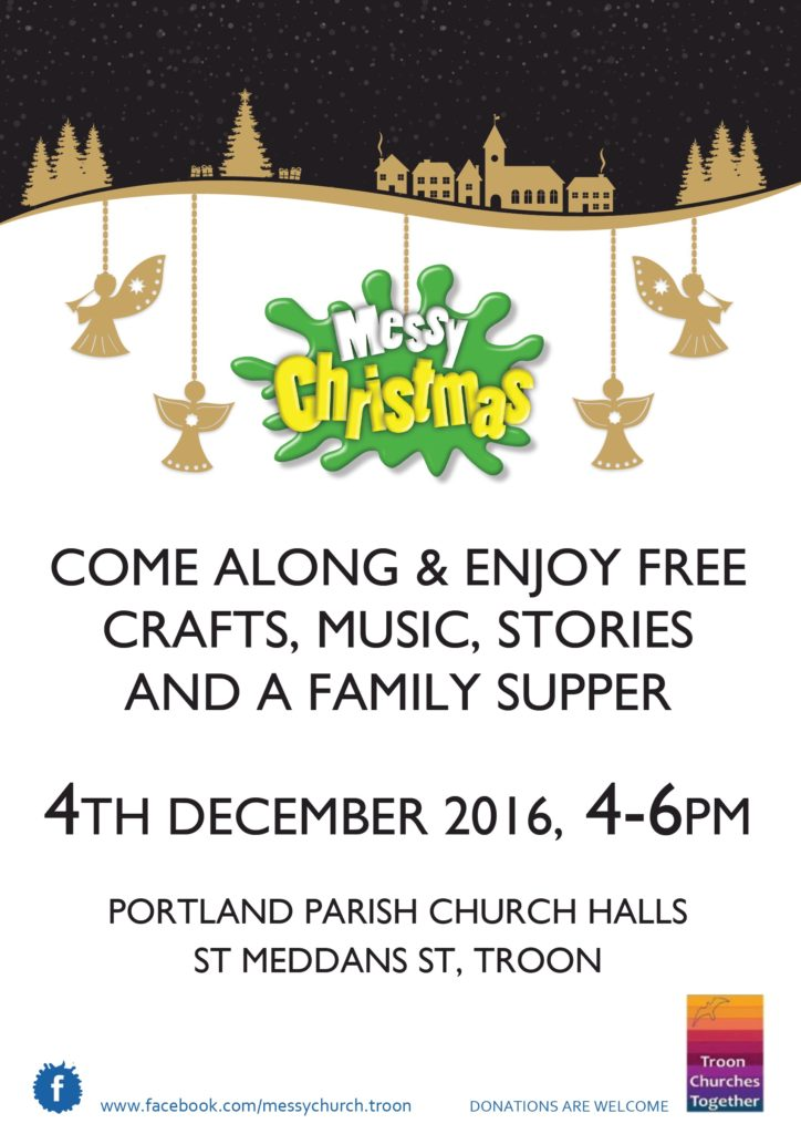 Messy Church Troon, 4 December 2016 poster