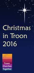 front cover of Christmas in Troon 2016 leaflet