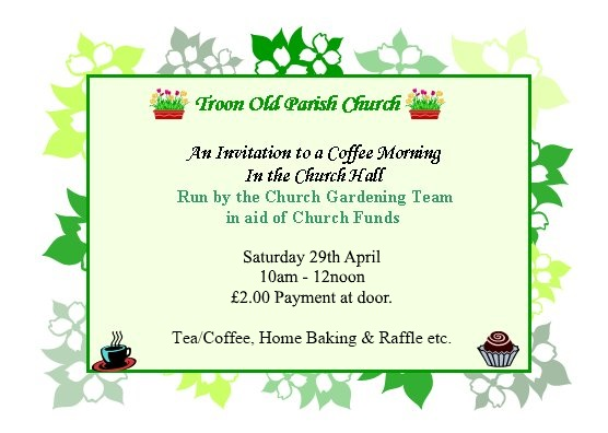 Gardening Team Coffee Morning flyer