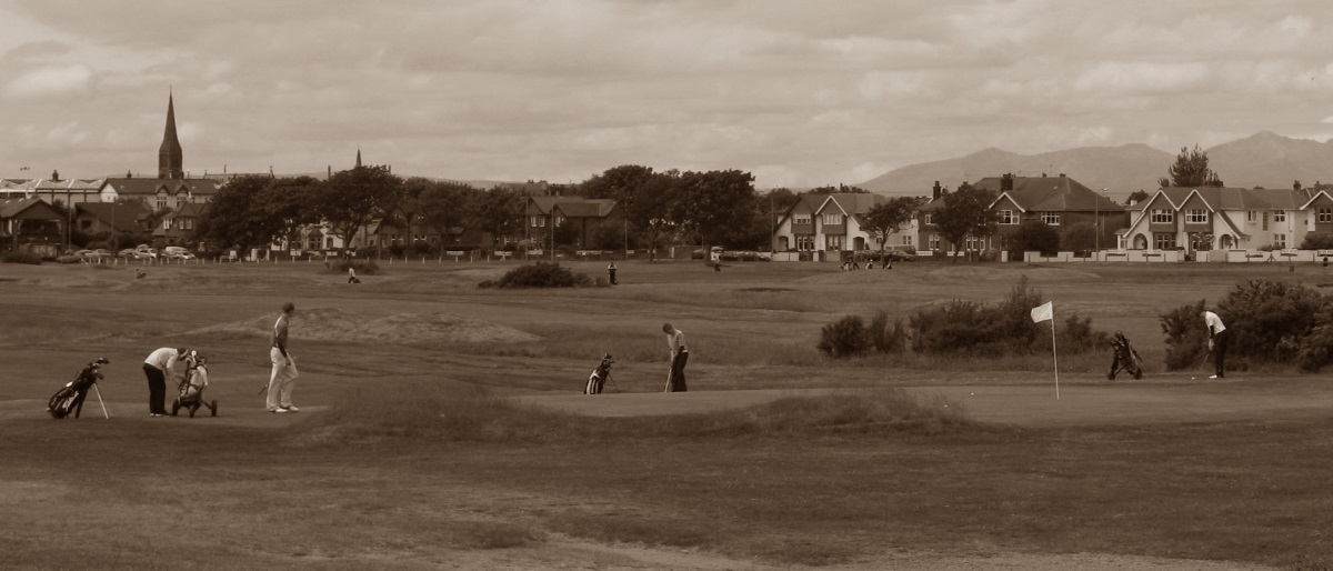 Golfing on Troon Links