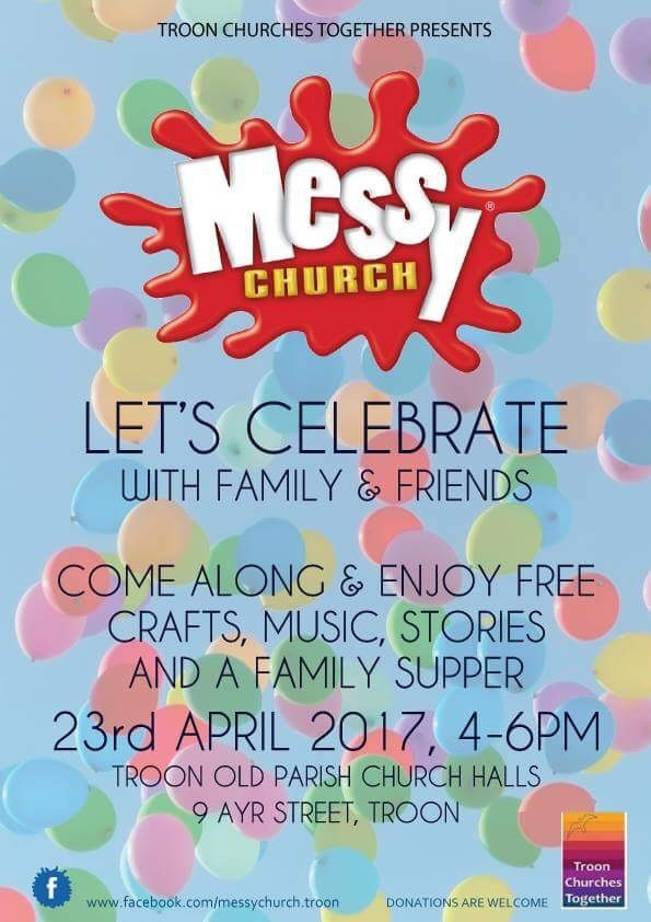 Messy Church, 23 April 2017 poster