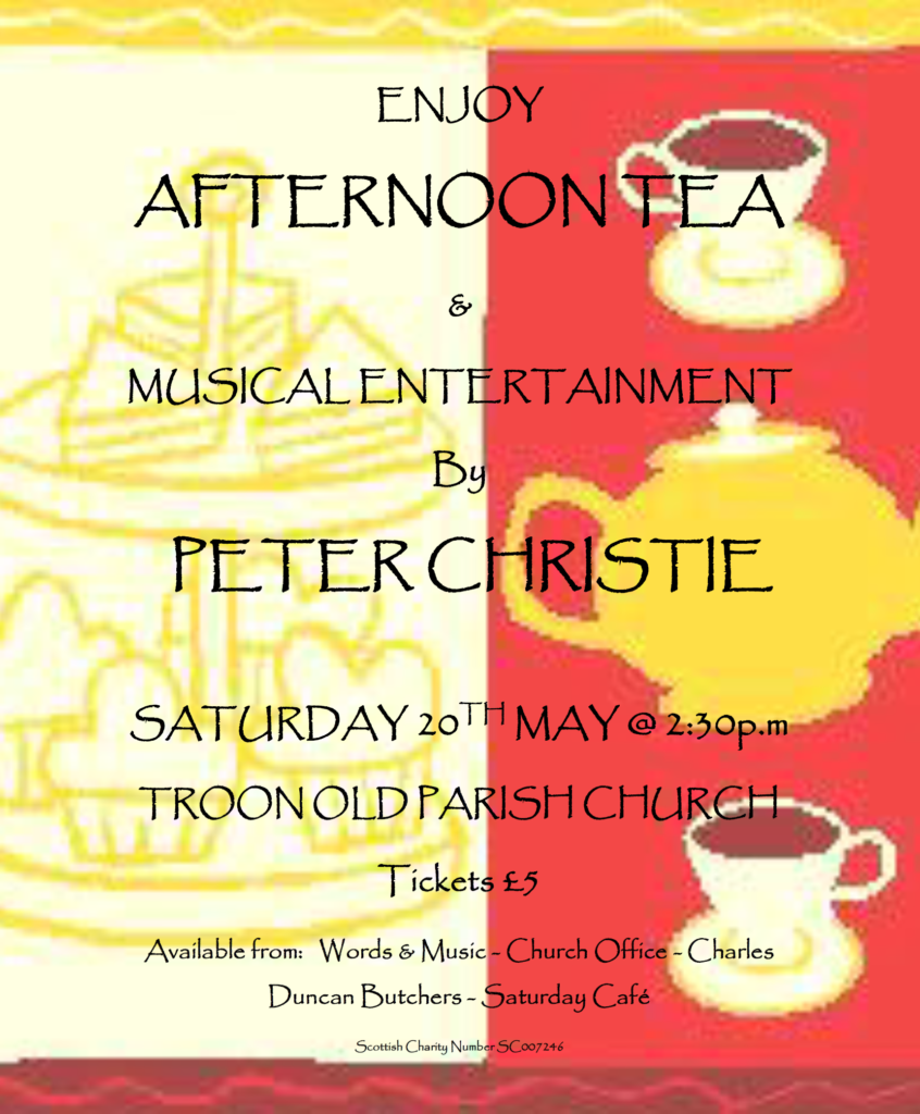Musical Afternoon with Peter Christie, 20 May 2017 poster