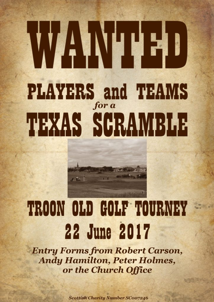 Troon Old Golf Tourney 22 June 2017 poster