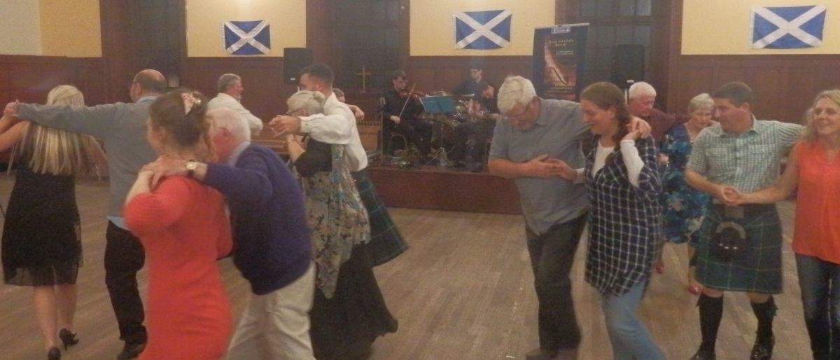 Dancing the Gay Gordons at the Troon Old 2016 Ceilidh