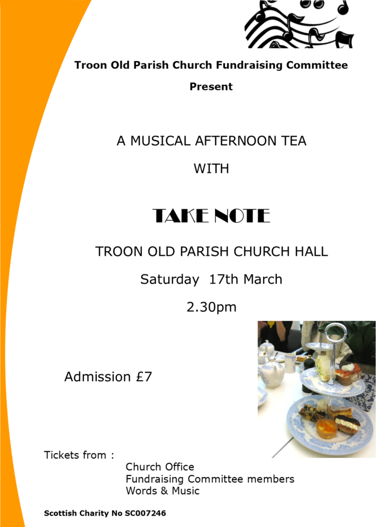 Musical Afternoon with Take Note, 17 March 2018 poster