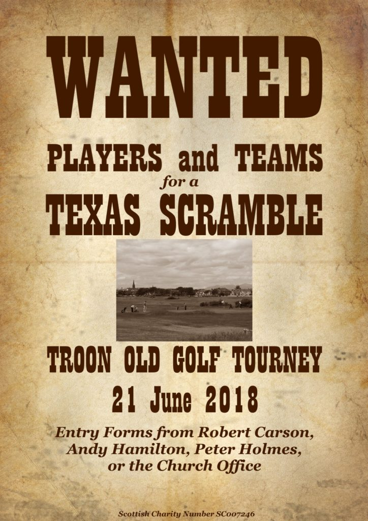 Troon Old Golf Tourney 21 June 2018 poster