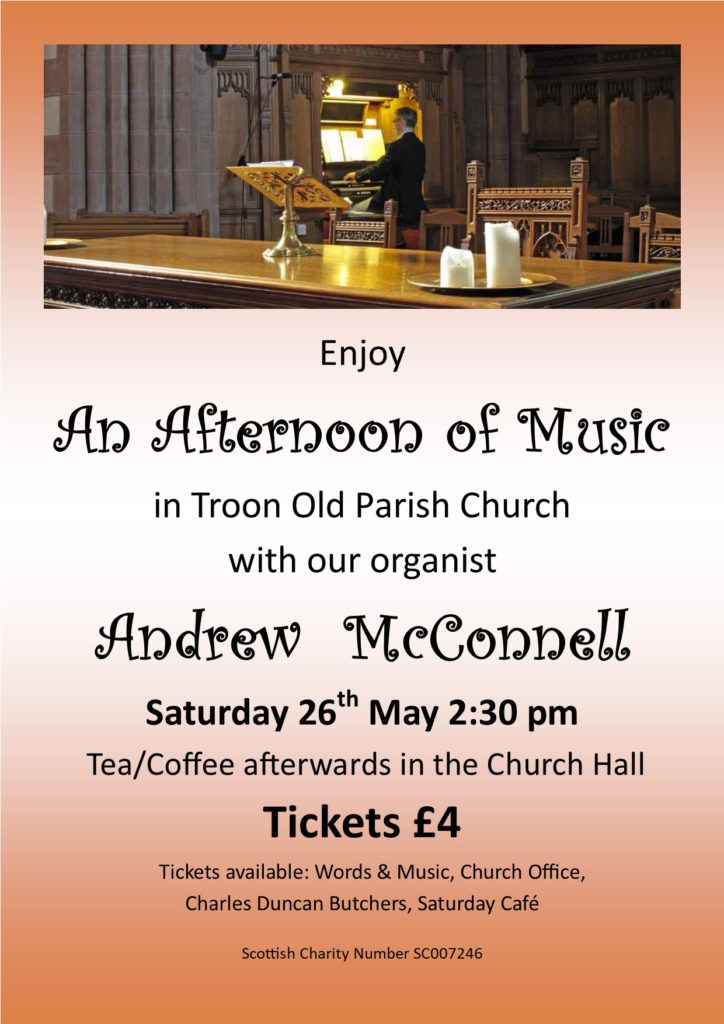 An Afternoon of Music with Andrew McConnell, 26 May 2018 poster