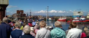 Rev Dave Prentice-Hyers at Troon Harbour Blessing 2017