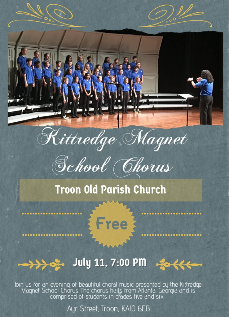 Kittredge Magnet School Chorus concert 11 July 2018 poster
