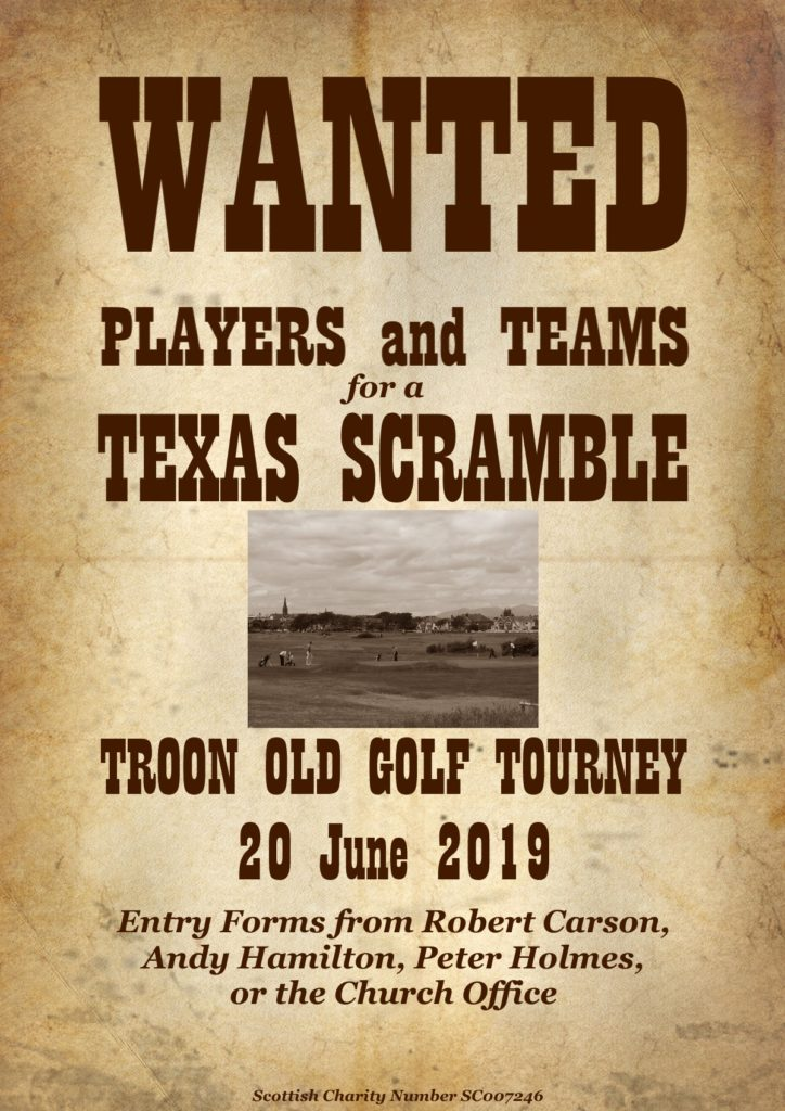 Troon Old Golf Tourney 20 June 2019 poster