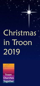 front cover of Christmas in Troon 2019 leaflet