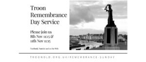 Troon Remembrance Day Service 8th and 11th November 2020 - Rev Dave Prentice-Hyers.
