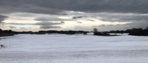 Afternoon snow on Lochgreen Golf Course, Troon, 13 February 2021