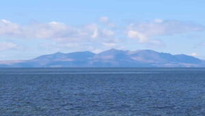 View of Arran from Ballast Bank, Troon, 12 April 2021